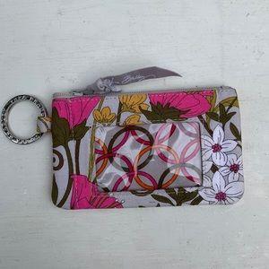 Vera Bradley floral coin purse keychain